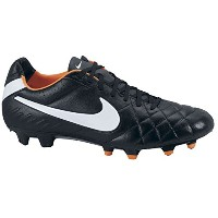NIKE TIEMPO LEGEND IV FG SOCCER CLEATS (BLACK/TOTAL ORANGE/WHITE)/サッカースパイク ティエンポ レジェンド IV FG (7 -25...