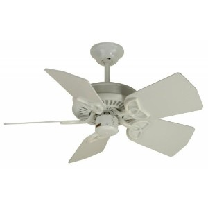Craftmade K10743 Piccolo Ceiling Fan with Piccolo White Blades, 30, White by Craftmade