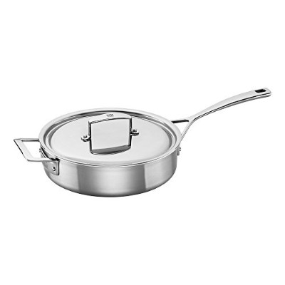 Zwilling J.A. Henckels 66087-240 Aurora 5-Ply Stainless Steel Saute Pan, 2.8l, Silver