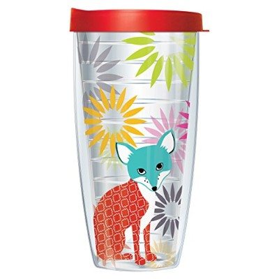 J・Minasian Fox OnクリアタンブラーMug with Lid 22 Oz 08-JMFOX-CL+L