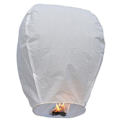 Buycrafty Set of 10 Sky Lanterns, Wire-free Eclipse, 100% Biodegradable, Environmentally Friendly...