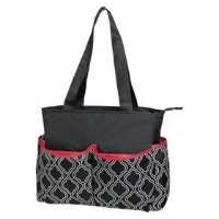 Baby Essentials 5-in-1 Diaper Bag - Black/white by baby