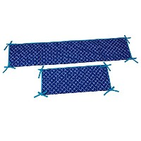 Happy Chic Baby Jonathan Adler Party Whale Bumper, Blue/White by Happy Chic Baby Jonathan Adler