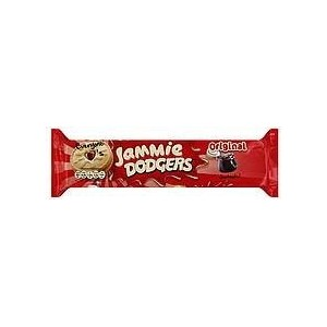 Jammie Dodgers Shortcake Cookies Sandwiched with Raspberry Jam 5.3 oz. (Pack of 30) by Jammie