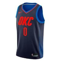Russell Westbrook Oklahoma City Thunder Nike NBA Swingman Basketball Jersey メンズ Navy NBA ナイキ バスパン...