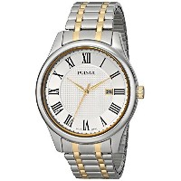 [パルサー]Pulsar 腕時計 Traditional Collection Analog Display Japanese Quartz Silver Watch PH9041 メンズ ...