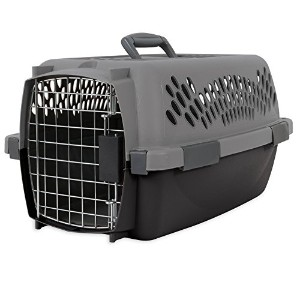 Aspen Pet Porter Traditional Kennel, For Pets Up To 10 pounds and Under, Light Gray by Aspen Pet