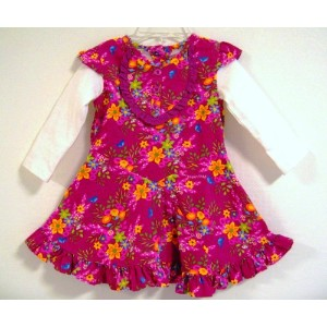 BABY NAY (ベビーネイ) [It's a Small World by Baby Nay] コーデュロイ ワンピース Slider Sleeve Corduroy Dress Red ...