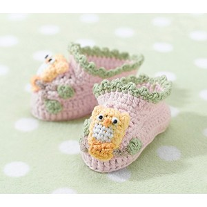 Pink Owl Booties 0-6 Months