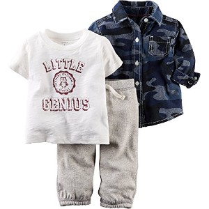 Carters Baby Boys 3-pc. Camo Genius Pants Set 18 Month Grey/blue/white by Carter's