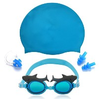 maticrキュートSwim Goggles with水泳キャップfor Kids Girls Boys
