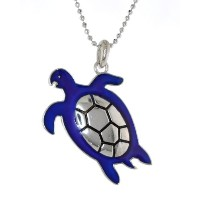 """Mood Pendent """" Turtle """"ビーズチェーンネックレス"""