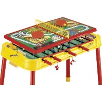 Mightymast Leisure Table multi-jeux Jaune/rouge