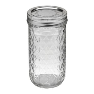Kerr 7061000115Quilted Crystal Jelly Jars with Lids and Bands、12オンス、12のセット