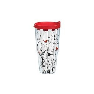 Tervis 1159337 Aspen Trees with Cardinals Tumbler with Lid、レッド