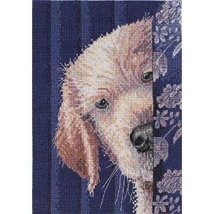 """Heirloom Collection I Didn't Do It Counted Cross Stitch Kit-5""""X7"""" 18 Count (並行輸入品)"""