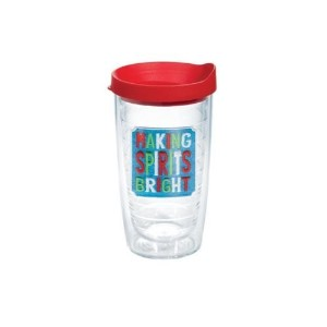 Tervis 1144676 Making Spirits Bright Tumbler with Lid、レッド