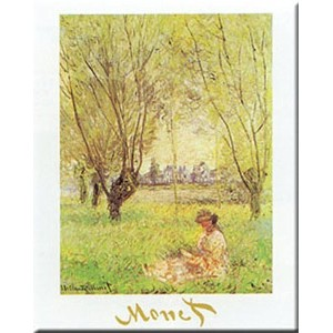 Woman Under the Willow by Claude Monet 20X 16アートプリントポスター