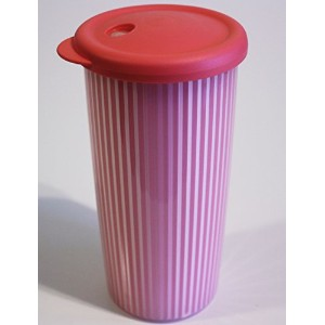 Tupperware Insulated Tumbler with drip-less Straw Seal in Watermelon /ピンク