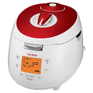 Cuckoo CRP-M1059F 10 Cup Electric Pressure Rice Cooker, 110V, Red by Cuckoo