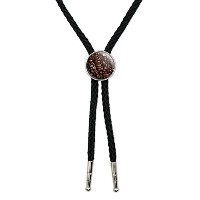 Coffee Beans Western SouthwestカウボーイネクタイBow Bolo Tie