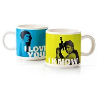 Han Solo and Princess Leia Stacking Mug SetマグカップSF