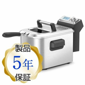 ブレビル スマートディープフライヤーBreville Stainless Steel with Black Accents Smart Fryer BDF500XL