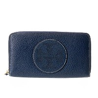 (トリーバーチ)TORY BURCH 長財布 Perforated Logo Zip Continental Wallet 36730 403 Royal Navy 取寄商品 [並行輸入品]