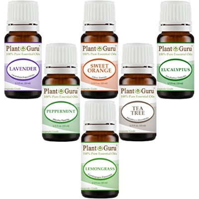 Essential Oil Variety Set Kit - - 100% Pure Therapeutic Grade 10ml. Set includes- (Peppermint,...