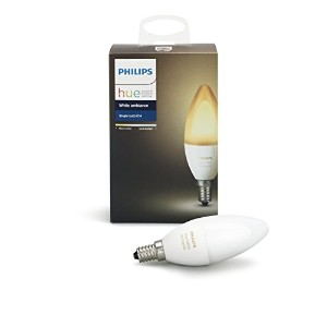 Philips 468926 Hue White Ambiance e12燭台6ワットLED電球、接続されWorks with Amazon Alexa