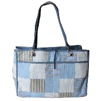 C-Red Preppy Madras Reversible Carry All Tote, Blue by RedC