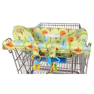 Leachco Prop 'R Shopper Body Fit Shopping Cart Cover, Green Forest Frolics by Leachco