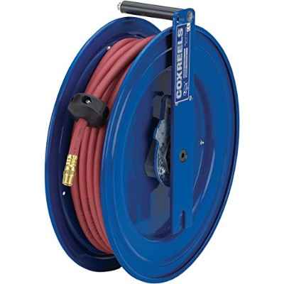 Coxreels SR17-L430 Spring Rewind Hose Reel for air/water: 3/8 I.D., 50' PVC hose, 300 PSI, right...