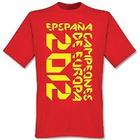 Spain Campeones de Europa Origami T-Shirt (Red)