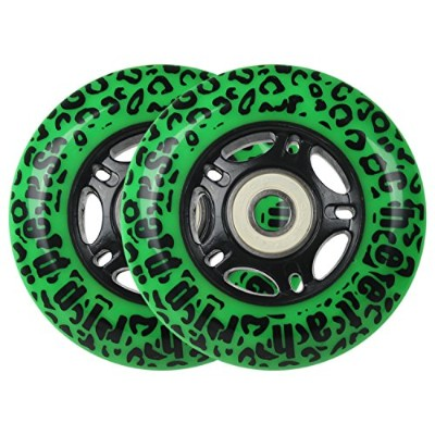 GREEN CHEETAH Wheels for RIPSTICK ripstik wave board ABEC 9 76MM 89A OUTDOOR Model: DECK