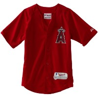MLB 7801Authentic Cool Base Batting Practice Jersey S レッド