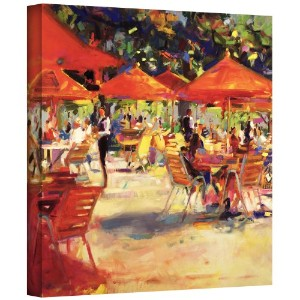 ArtWall ' Le Cafe du Jardin ' gallery-wrappedキャンバスアートワークby Peter Graham 18x18 1gra009a1818w