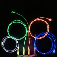 ShopAction flowingled128 Charging Cable - Glow in the Dark Light - Up Visible Micro USB for Samsung...