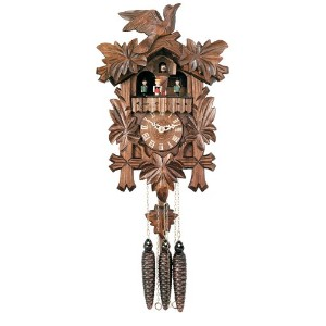 River City Clocks One Day Musical Cuckoo Clock with Dancers, Five Hand-carved Maple Leaves, and One...