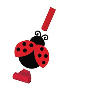 Creative Converting Ladybug Fancy Party Blowouts with Medallions, 8 Count [並行輸入品]