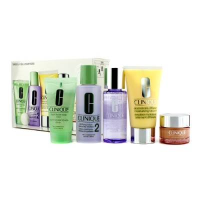 CliniqueExclusive Set: DDML Plus 50ml + All About Eyes 15ml + Liquid Soap 30ml + Clarifying Lotion ...