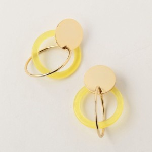 SALE【GUILD PRIME ギルドプライム】 【MONDAY EDITION】ピアス-structural circles earrings MEER-16FW03GD- ゴールド レディース