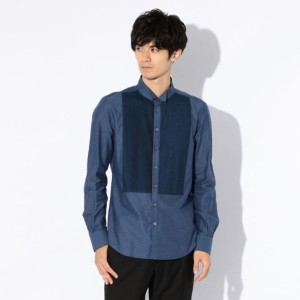 SALE【ギルドプライム(GUILD PRIME)】 【Education from Youngmachines】MENS ブルーウィングカラーシャツ ブルー