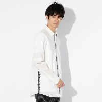 SALE【GUILD PRIME ギルドプライム】 ◇◇【Education from Youngmachines】MENS レイヤードシャツカバーオール ホワイト メンズ