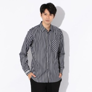 SALE【ギルドプライム(GUILD PRIME)】 【Education from Youngmachines】MENS フィルモアストライプシャツ ブルー