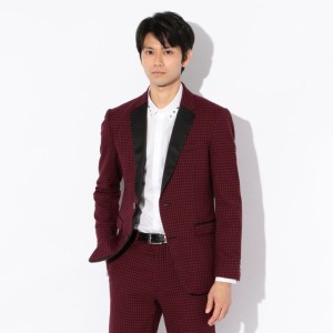 SALE【GUILD PRIME ギルドプライム】 【Education from Youngmachines】MENS レッドギンガムジャケット レッド メンズ