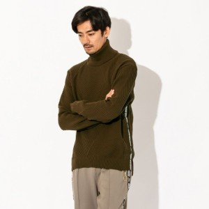 SALE【GUILD PRIME ギルドプライム】 【Education from Youngmachines】MENS ストリートタートルプルオーバー カーキ メンズ