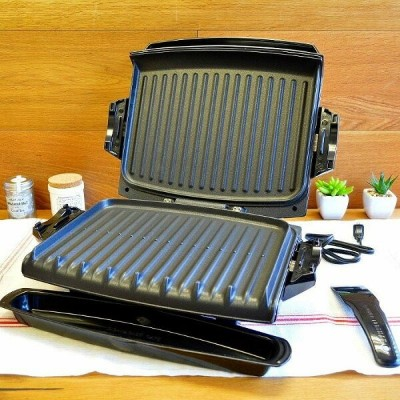 ジョージフォアマン 電気グリル ホットプレートGeorge Foreman GRP101CTG 100-Square-Inch Nonstick Grill with Griddle Plates