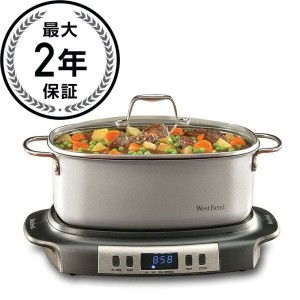 ウエストベンド スロークッカーWest Bend 84966 Versatility Oval-Shaped 6-Quart Programmable Slow Cooker