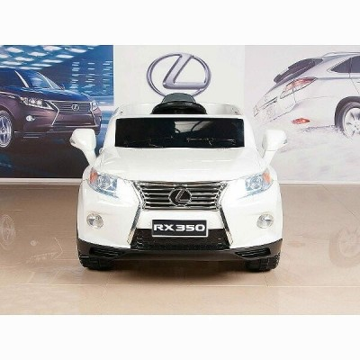 【組立要】レクサス 子供用電気自動車 Lexus RX 350 White 12V Battery Powered Wheels Kids Ride On Car With RC